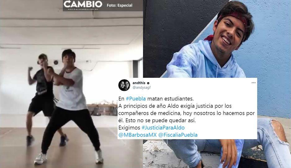 Puebla se levanta ante muerte del bailarín Aldo; estudiantes BUAP, amigos y familiares exigen justicia