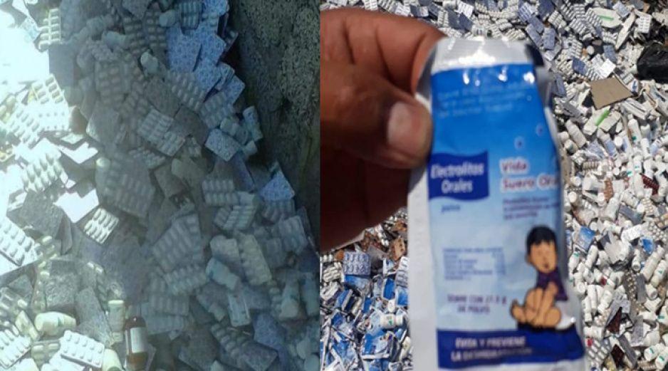 Hallan medicamento caducado en terreno baldío en Chachapa