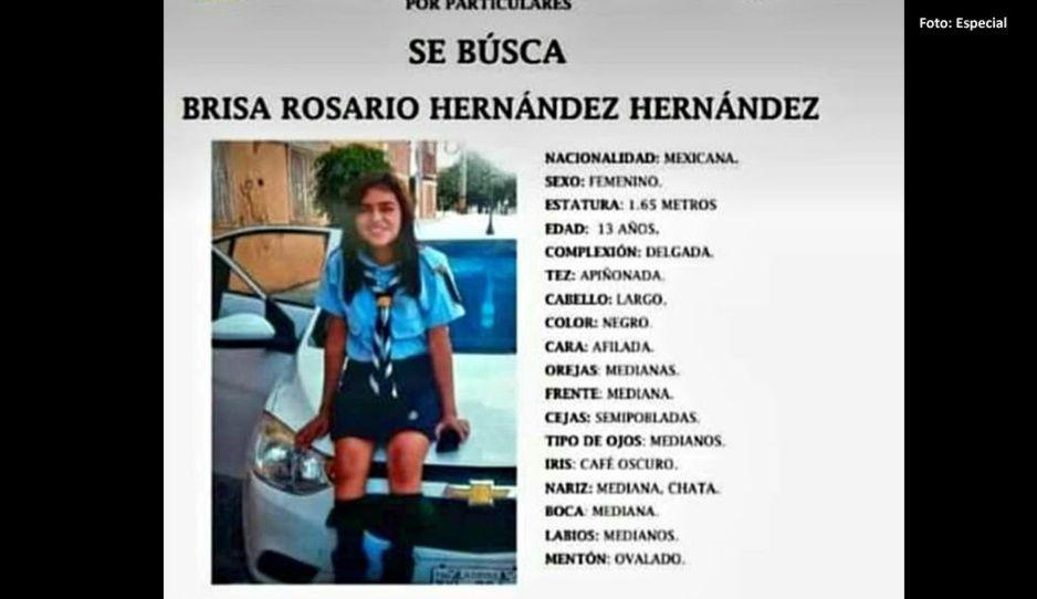 Ayuda a encontrar a Brisa Hernández de 13 años, desapareció en San Bartolo