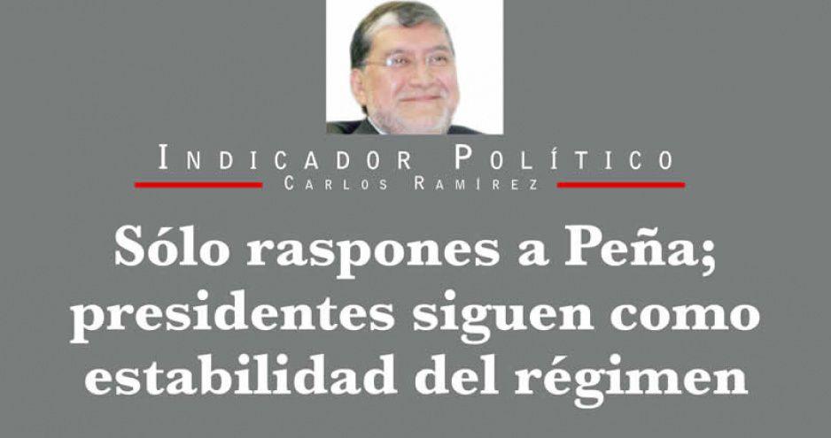 Sólo raspones a Peña; presidentes siguen como estabilidad del régimen