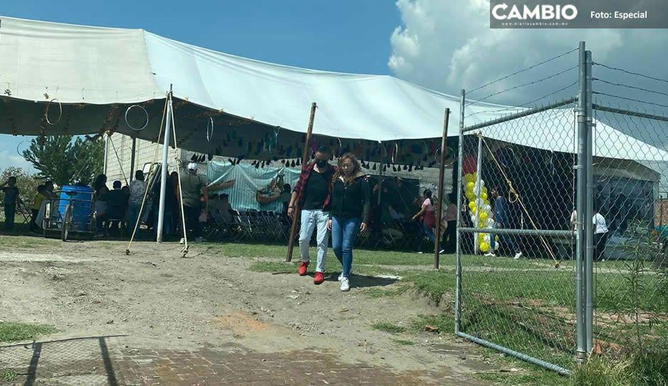 En plena pandemia se registra baile en vía pública en San Pedro Cholula