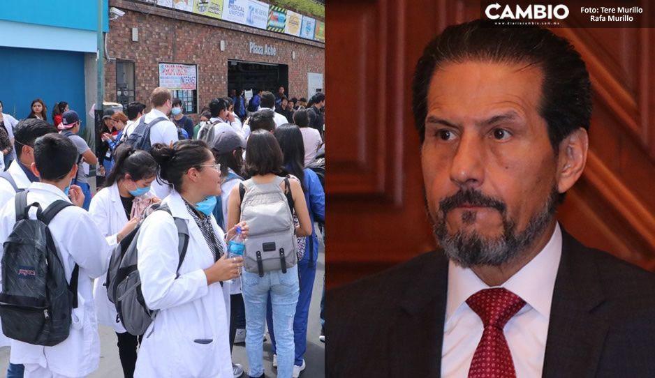 Universitarios exigen a Barbosa y Esparza cumplir con las demandas de mayor seguridad en el campus