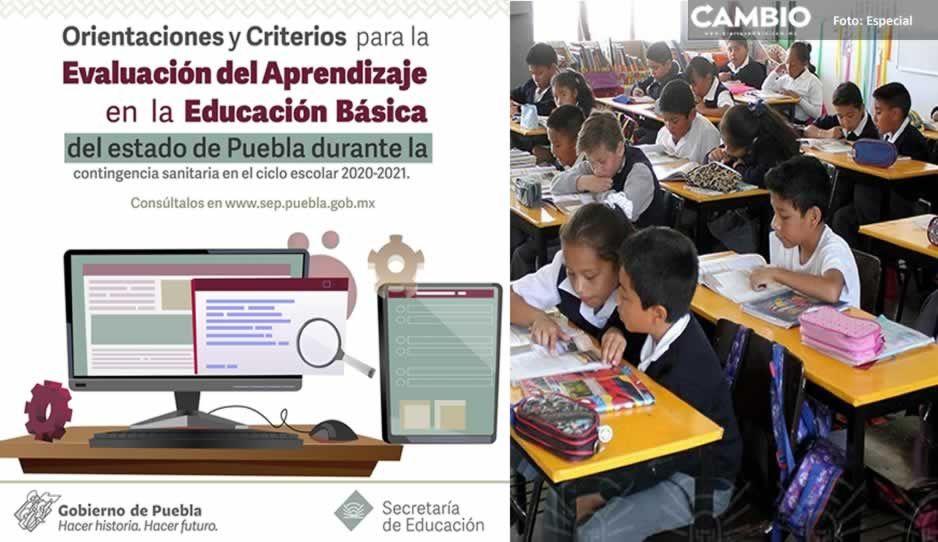 Estos serán los criterios de evaluación de la SEP para el ciclo escolar 2020-2021 en Puebla