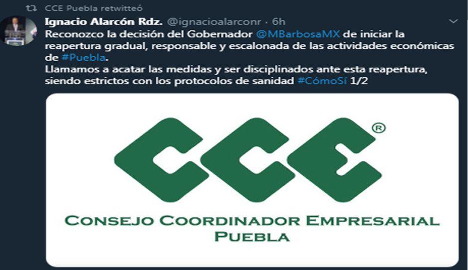 CCE reconoce plan de Barbosa para reactivación económica del 7 de agosto