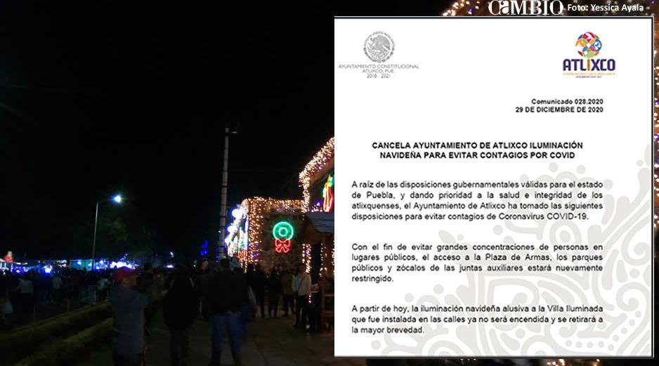 Desmantelan Villa Iluminada de Atlixco, para respetar nuevas medidas por COVID