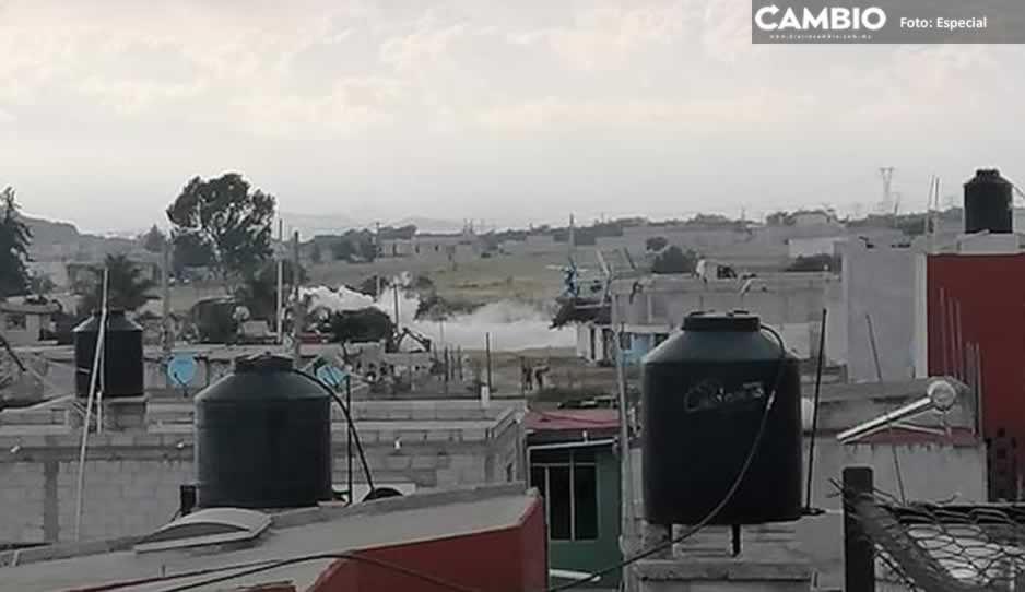 VIDEO: Así se ve la fuerte fuga de gas LP en Amozoc