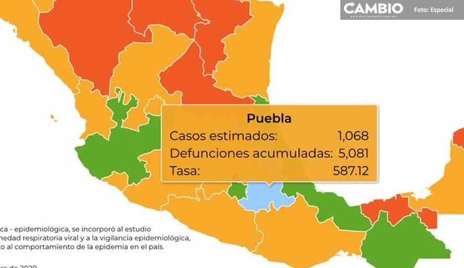Federación reporta 5 mil 81 muertes por Covid en Puebla y más de 38 mil contagios