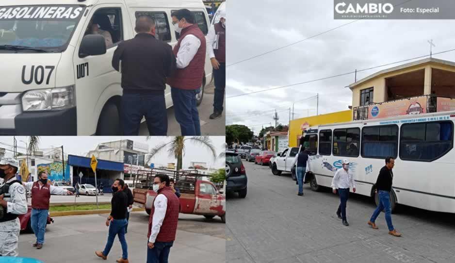 Infraccionan 20 unidades de transporte público en mega operativo en Atlixco