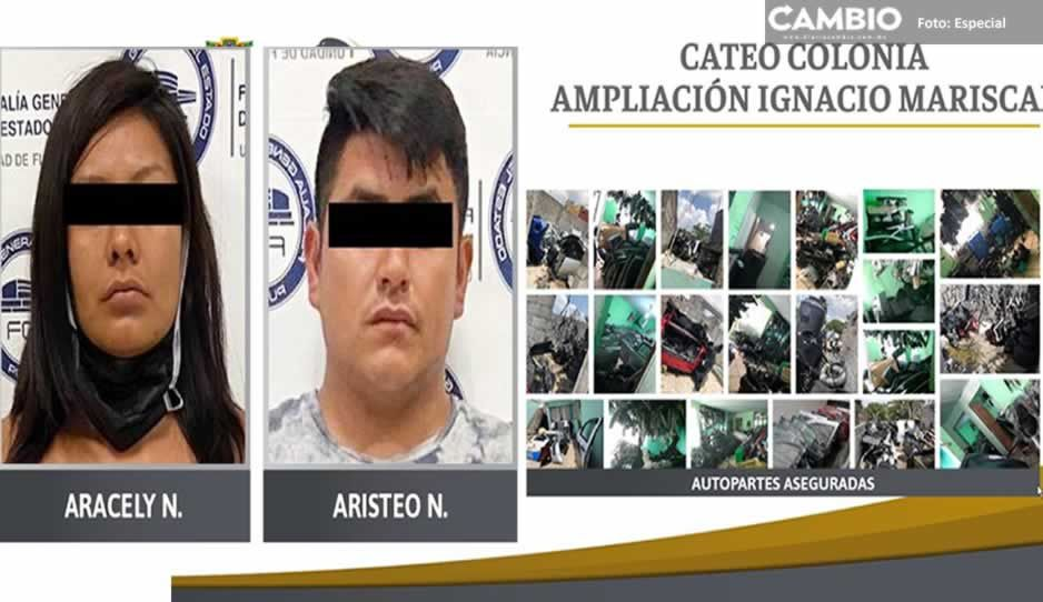 Más de 290 autopartes aseguradas y dos detenidos tras cateo en Ignacio Mariscal