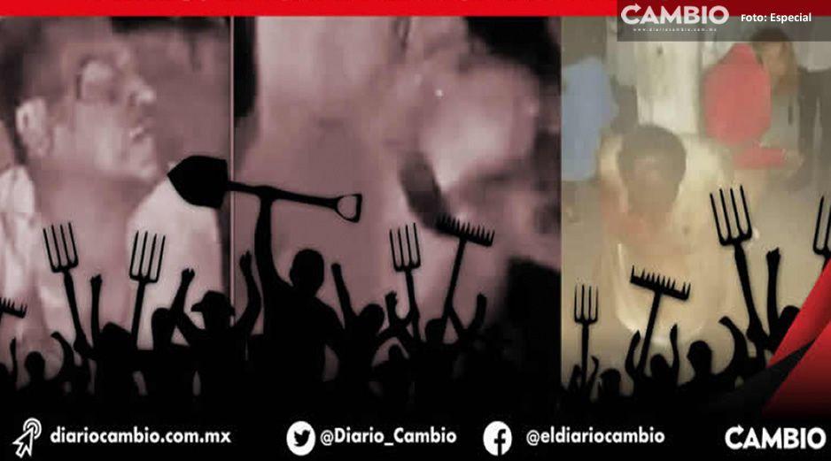 Linchan a delincuentes en Izúcar de Matamoros, (Imágenes fuertes)