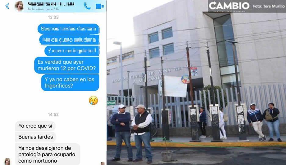 Confirmado: usan refrigerador de Patologia como mortuorio ante saturación de cadáveres en IMSS La Margarita