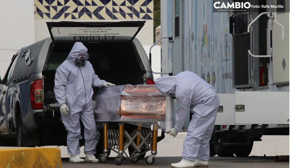 COVID sin control en Puebla: mil 330 nuevos infectados y 115 muertos