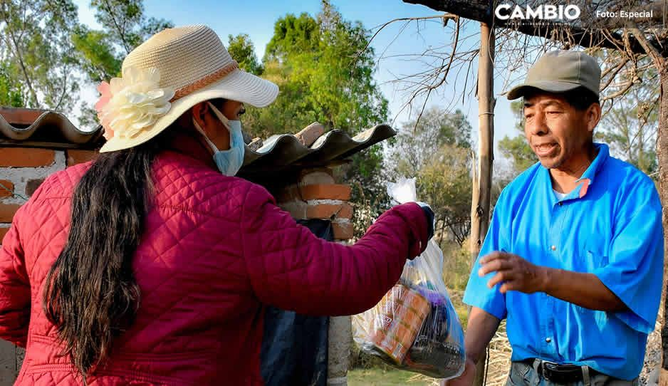 Familias de Cuautlancingo agradecen la entrega del Programa Su Sana Despensa