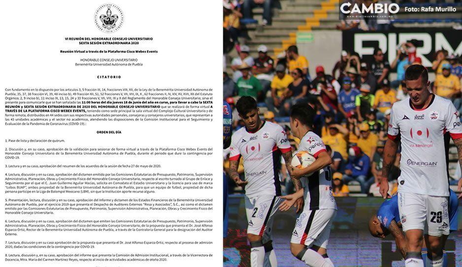 Mañana Consejo Universitario le entregará a empresarios de Guadalajara los nuevos Lobos Buap