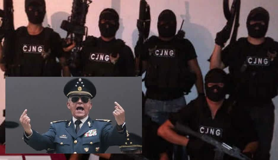 Cartel Jalisco Nueva Generación y el ex secretario de Defensa Cienfuegos