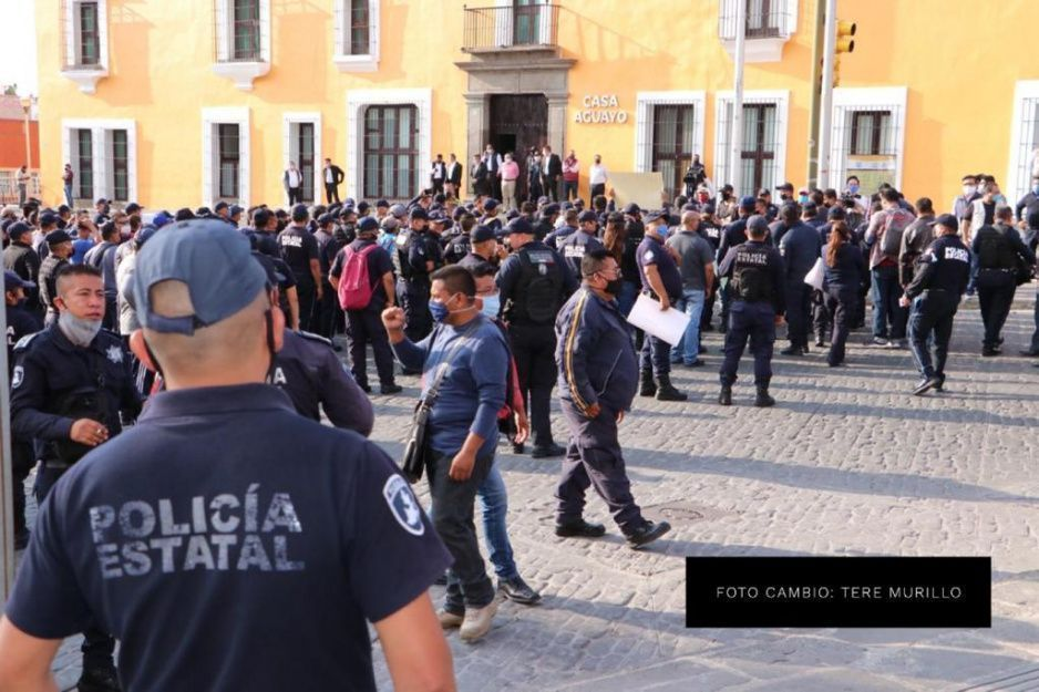 Concluyen policías su marcha sin acuerdos y prometen que mañana seguirá el paro (FOTOS)