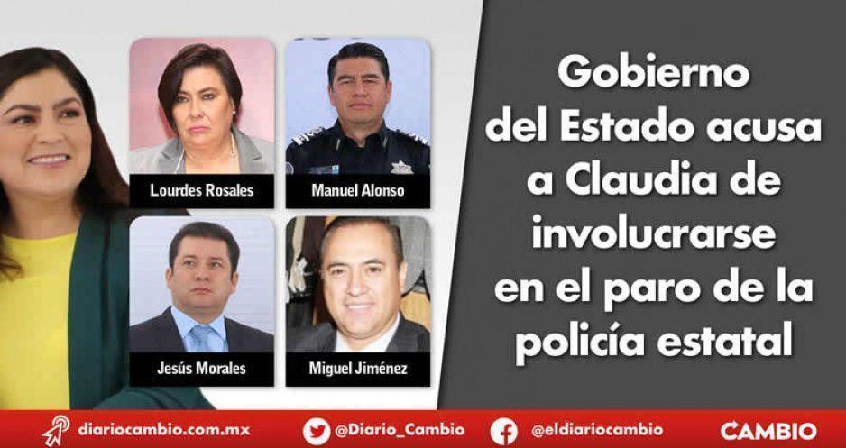 Gobierno del Estado acusa a Claudia de intromisión en el paro de la Policía estatal