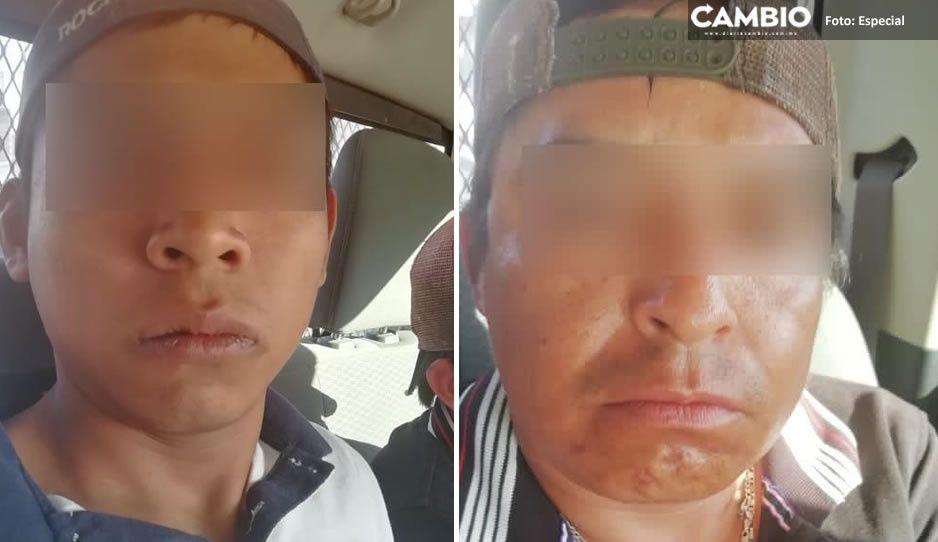 """Capturan a dos narcomenudistas de """"El Babas"""" en Altepexi"""