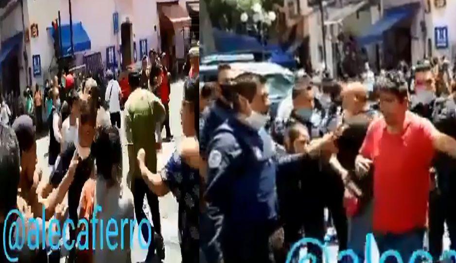 Ayuntamiento denuncia ante la FGE a ambulantes que atacaron a policías en el Centro