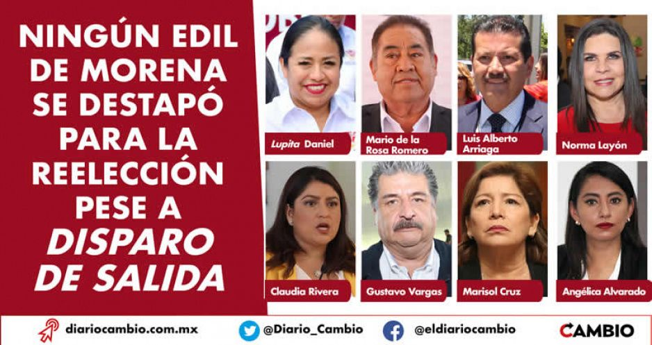 Ningún edil de Morena se destapó para la reelección pese a disparo de salida