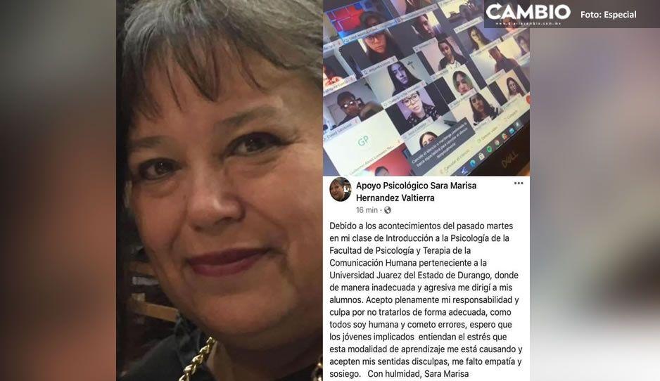 Soy humana y cometo errores; se disculpa maestra que maltrató a alumnos en videollamada