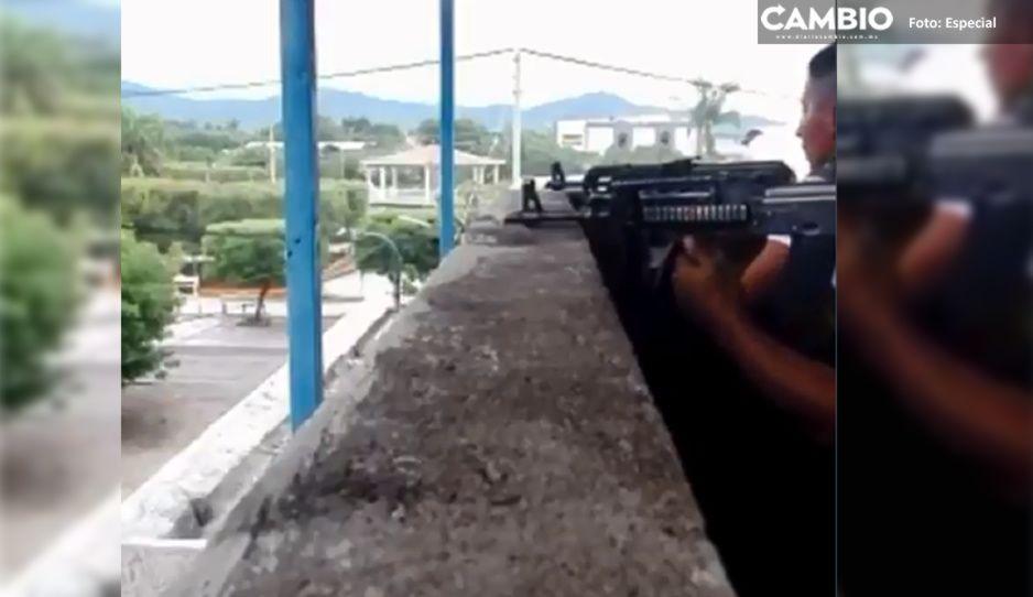 ¡Perra balacera entre Carteles Unidos y el CJNG! Así se grabaron (VIDEO)