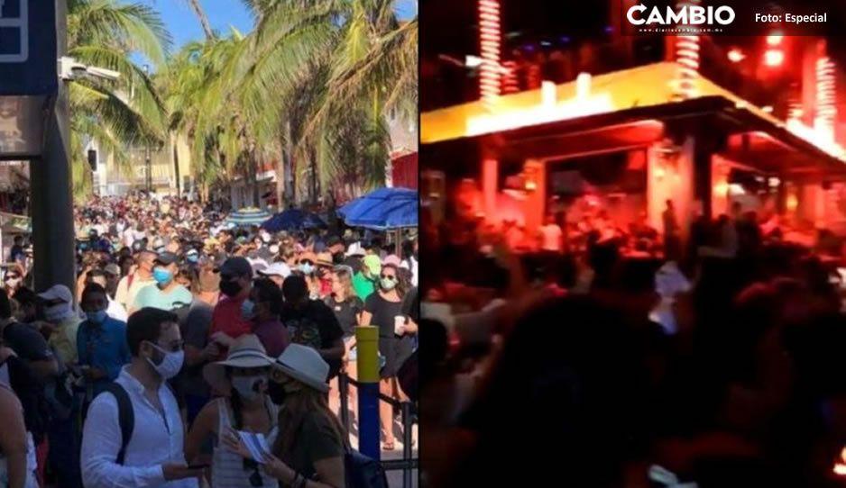 En Playa del Carmen también se sienten inmortales, abarrotan calles pese a COVID