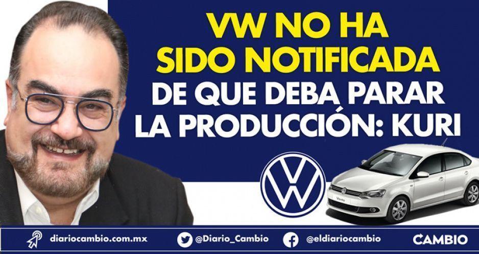 VW no ha sido notificada de que deba parar la producción: Kuri