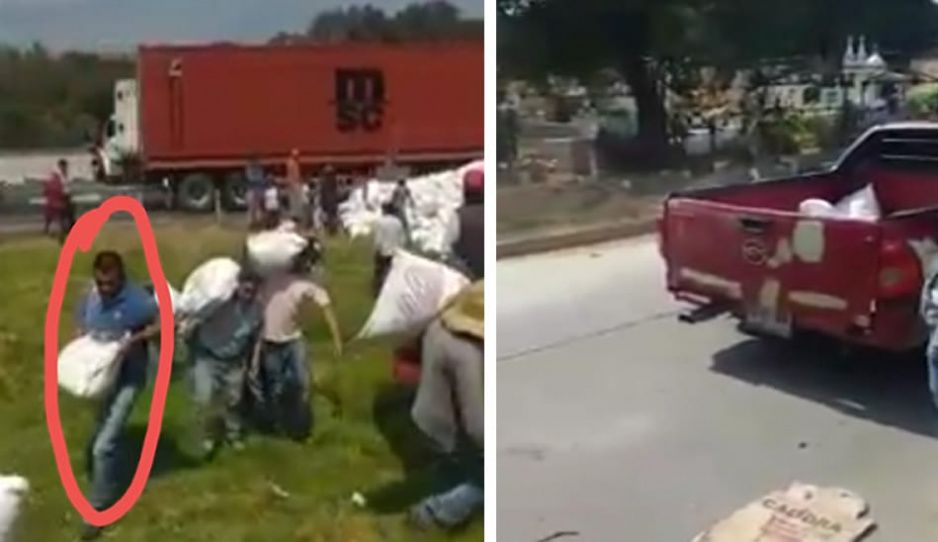 ¡Hasta la camioneta del Ayuntamiento usaron para la rapiña en Tlahuapan!
