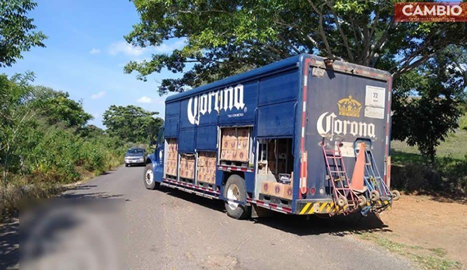 Asaltan y golpean a empleados de Corona en carretera de Izúcar de Matamoros
