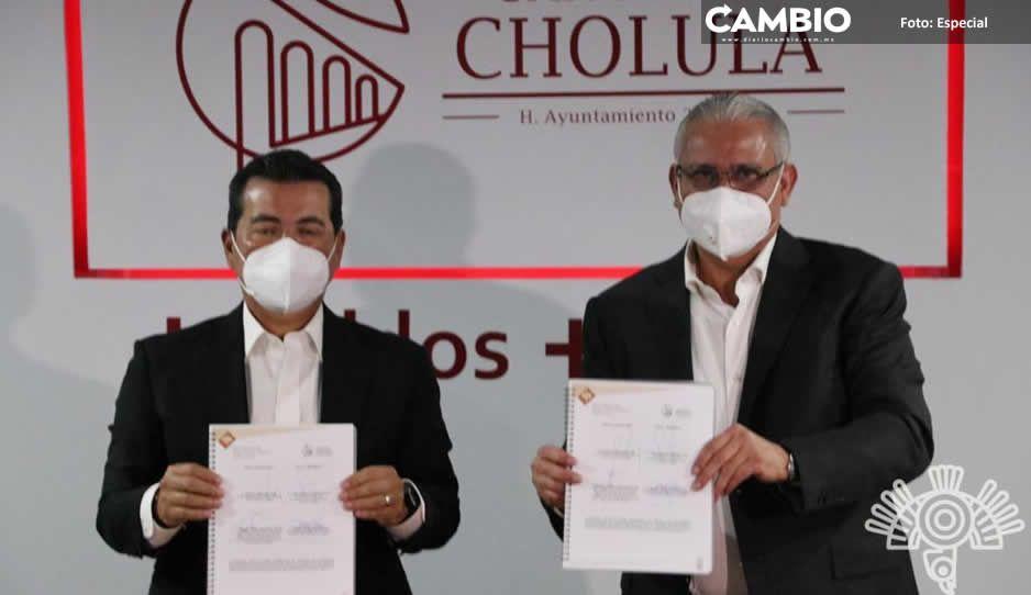 Suman esfuerzos la SSP y San Pedro  Cholula para la prevención del delito
