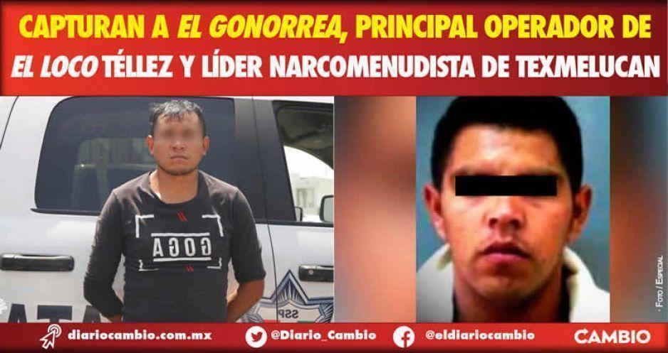 Capturan a El Gonorrea, principal operador de El Loco Téllez y líder narcomenudista de Texmelucan