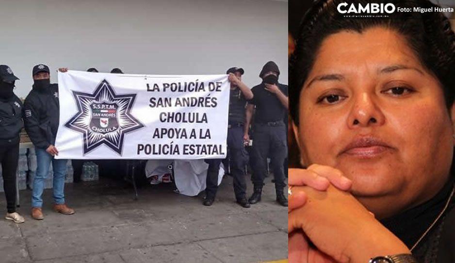 Karina Pérez da la espalda a sus policías en San Andrés por apoyar a los estatales: no reconoce manifestación
