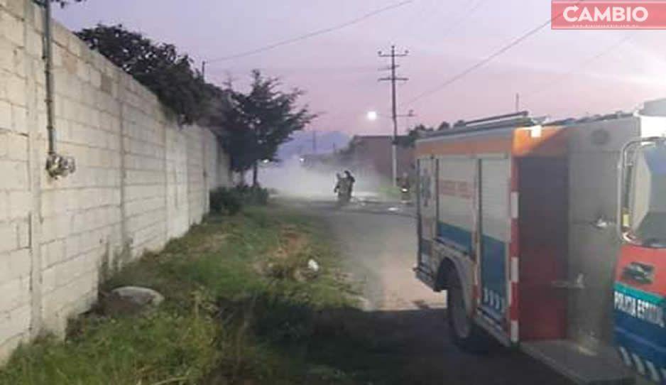 FOTOS: Así fue la huachifuga que alertó a vecinos de San Jacinto en Amozoc