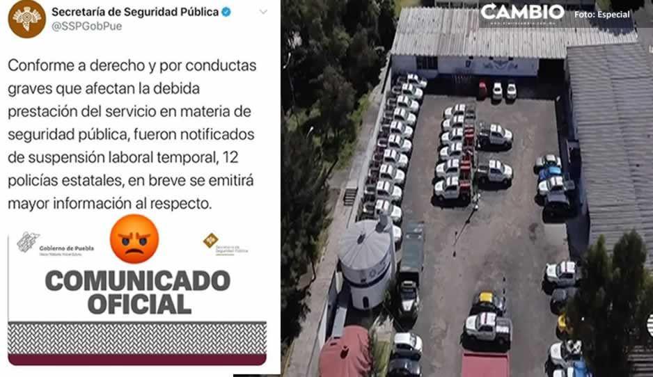 SSP suspende a 12 policías estatales tras el montaje de las patrullas