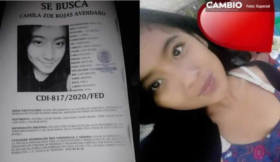 Camila Rojas de 11 años salió de su casa en Villa Verde y ya no regresó ¡Ayuda a localizarla!