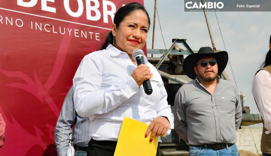 Inicia Lupita Daniel perforación de pozo de agua potable en Cuautlancingo