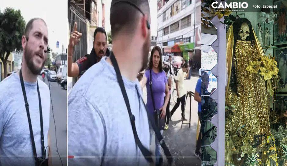 Evangelizador sale vivo de Tepito pese a ofender a la Santa Muerte(VIDEO)
