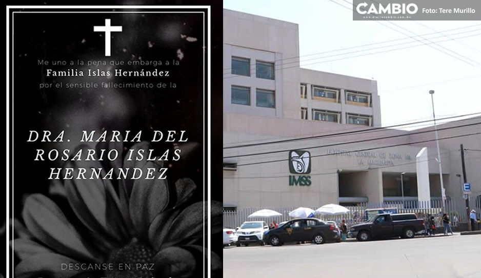 Muere por coronavirus la doctora del IMSS, María del Rosario Islas