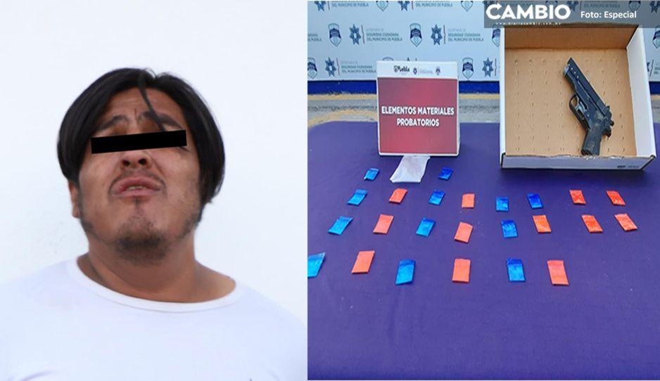Capturan a narcomenudista con cocaína, piedra y cristal en El Mirador