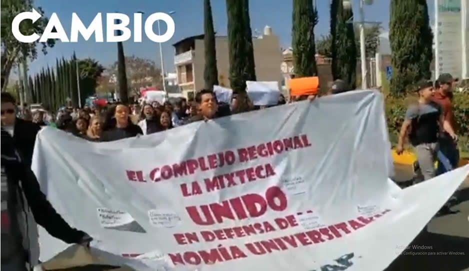 Estudiantes del campus BUAP en Atlixco marchan contra la inseguridad (VIDEO)