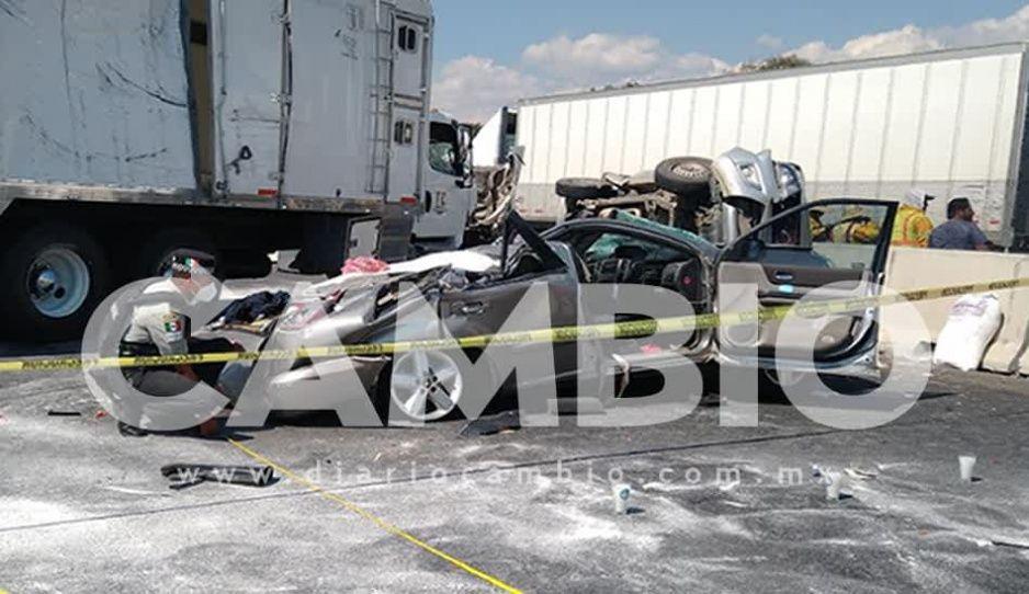 Accidente en la México-Puebla