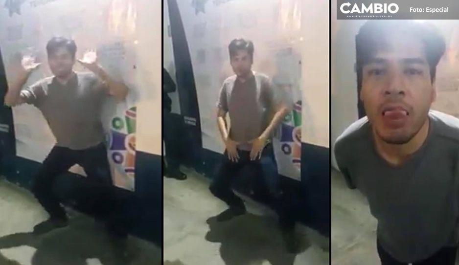 #LordFuncionario Director borracho de Comunicación en Tehuacán: baila y se burla de los policías