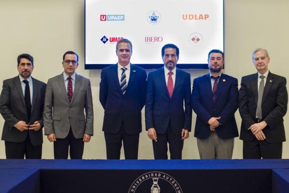 Rectores de la BUAP, UDLAP, UPAEP, Ibero, Anahuac y la UMAD se unen para combatir la inseguridad
