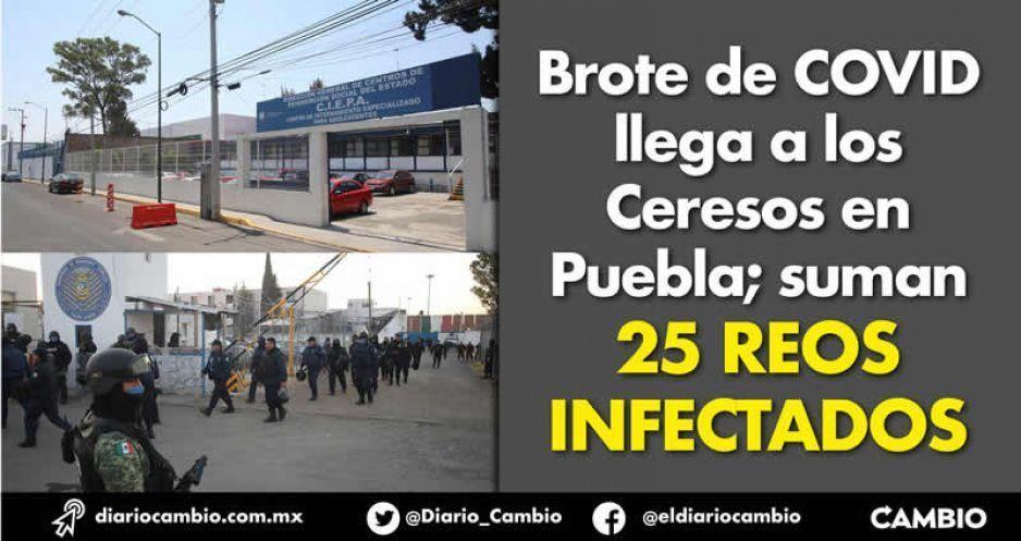 Brote de COVID llega a los Ceresos en Puebla; suman 25 reos infectados