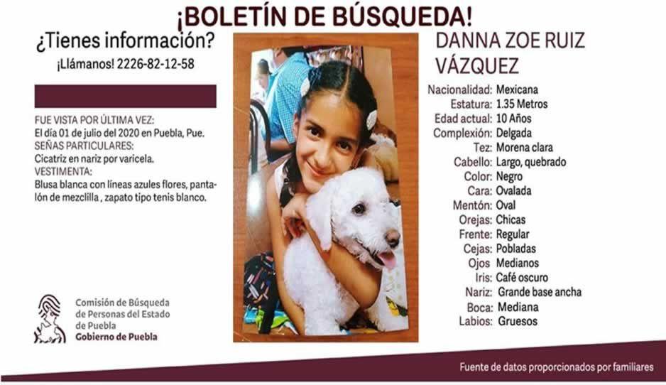 Desaparece Danna Ruiz de 10 años en calles de Puebla ¡Ayuda a encontrarla!