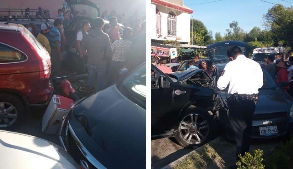 Borrachita causa terrible choque en Atlixco