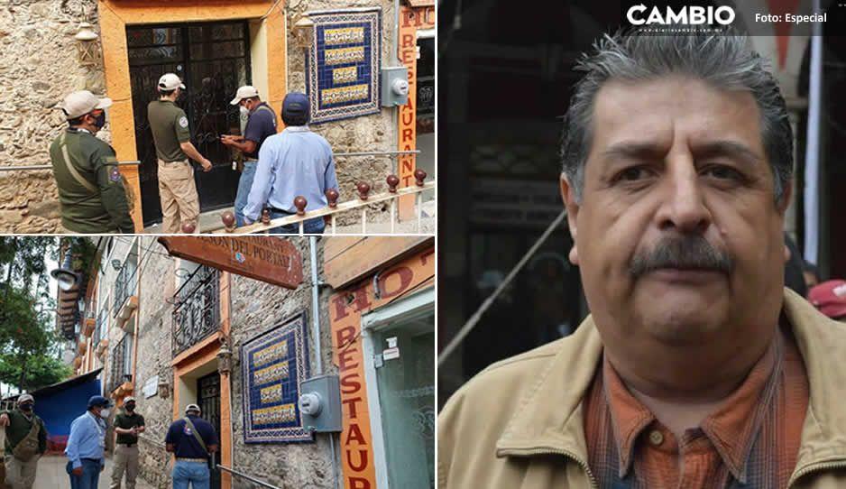 Barbosa pone un estate quieto a Ecoloco Vargas y clausura su hotel en Huauchinango