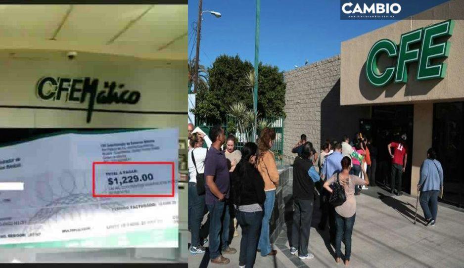 CFE peor que el Covid: poblanos denuncian tarifazo y cortes sin previo aviso