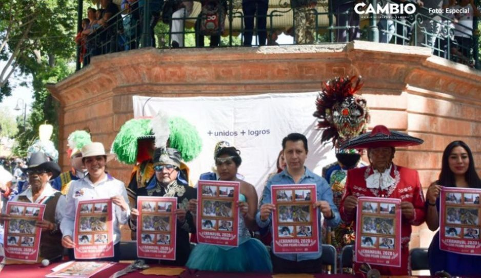 Ayuntamiento presenta edición 2020 del Carnaval en San Pedro Cholula